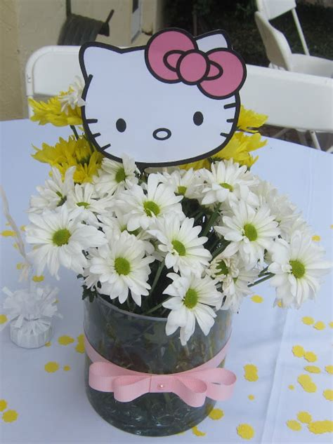 Simplyiced Party Details Hello Kitty First Birthday More Hello Centerpiece Birthday