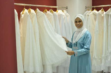 Mukena Katun Bordir Khadijah Putih siti khadijah brand mukena terbesar malaysia buka butik
