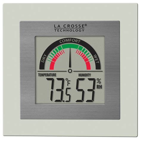 digital wall mounted room thermometer la crosse technology wt 137u digital thermometer hygrometer with comfort meter