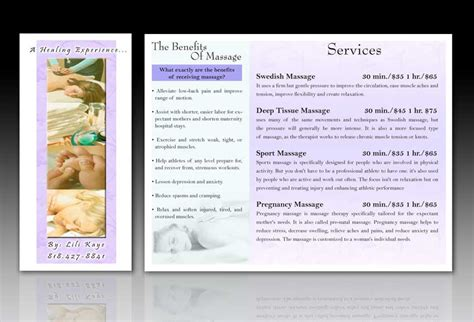 massage therapy brochure templates quotes