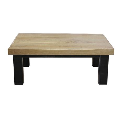 Oak And Iron Thin Coffee Table By Oak Iron Furniture Thin Coffee Tables