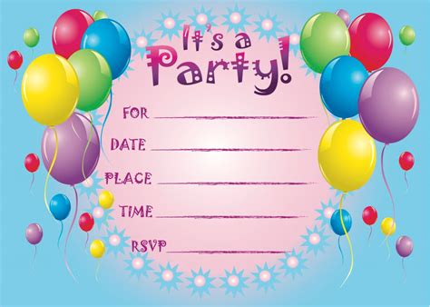 Birthday Card Invitations Printable Birthday Invitations So Pretty Invitations And
