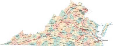 Virginia Cities Map by Virginia Road Map Va Road Map Virginia Highway Map