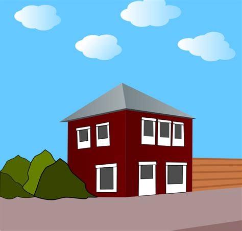 A Small House Clipart Big House