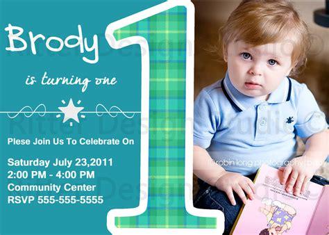 baby boy birthday invitation by ritterdesignstudio