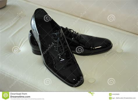 Groom Shoes Black Color Stock Photo Image 64423806 Shoes In Color Black