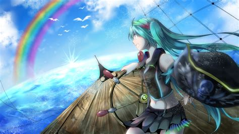 anime girl pirate wallpaper anime images miku pirate hd wallpaper and background
