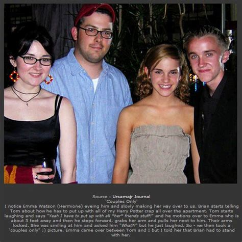 emma watson et tom felton film tom emma tom felton and emma watson photo harry potter