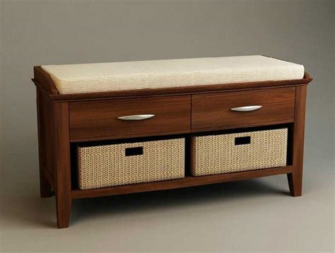 bench furniture living room living room bench seating with drawers and wicker storage