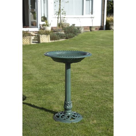 bird bath and free feeder verdigris at wilko com