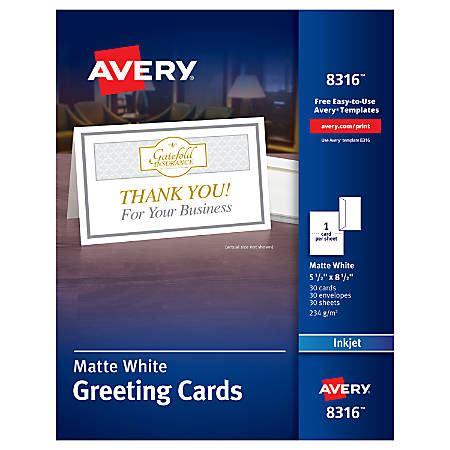 Avery Template Greeting Card 2 On One Page by Avery Half Fold Textured Greeting Cards 5 12 X 8 12 Matte