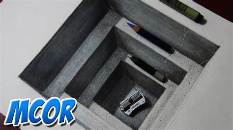 hacer imagenes en 3d online como dibujar un hoyo realista dibujo 3d youtube