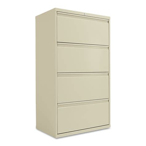 Lateral File Cabinet 4 Drawer Alera Four Drawer Lateral File Cabinet 30w X 19 1 4d X 53 1 4h Black Ebay