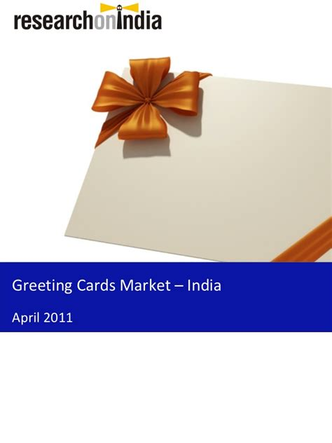 Gift Card In India - market research report greeting cards market in india 2011