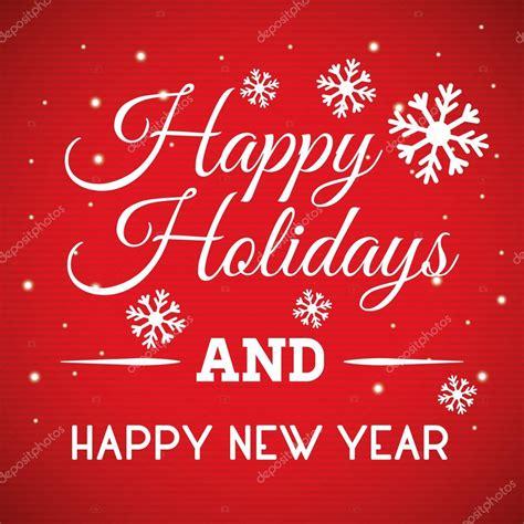 happy holidays  merry christmas card stock vector  djv