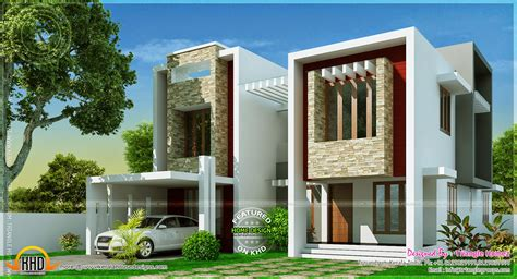 modern villa design square indian house plans