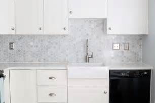 how install marble hexagon tile backsplash justagirlandherblog chevron kitchen tiles transitional