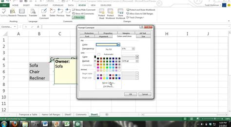 tutorial youtube excel 2013 excel tutorial how to add picture images to a comment in