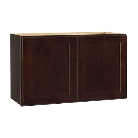 home depot shaker cabinets hton bay shaker assembled 30x18x12 in wall bridge