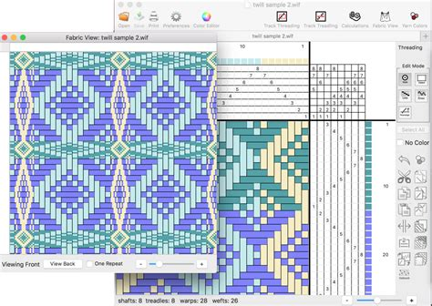 pattern design software mac weaveit a handweaving design software program