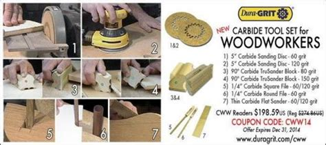 great canadian woodworker dura grit woodworker s set canadian woodworking magazine