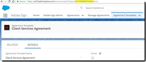 Adobe Sign For Salesforce Templates And Data Merge Mapping Template Url