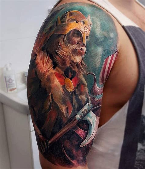 viking warrior sleeve best tattoo ideas amp designs