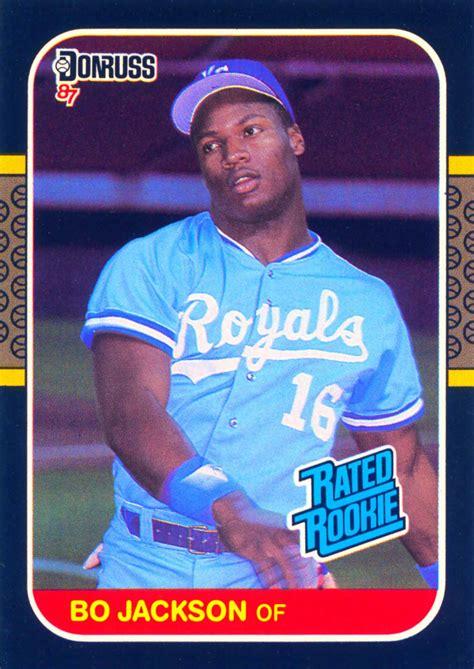 1987 Topps Baseball Card Template by Bo Jackson Gallery