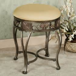 Vanity Stool Antique Hailey Backless Vanity Stool Antique Gold New Home