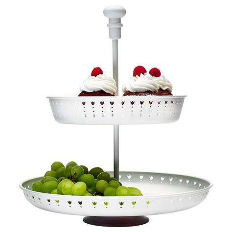 obst etagere garnera serving stand two tiers white ikea