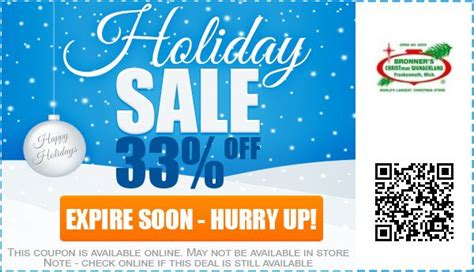 bronner s christmas wonderland coupons promo codes