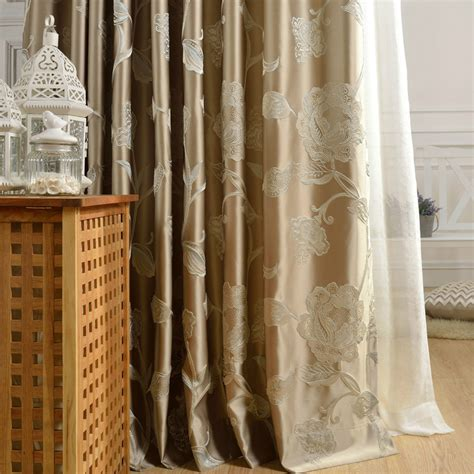 Practical Floral Polyester Fabric Good Quality Curtains