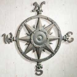 Nautical Themed Ceiling Fans - indoor outdoor nautical compass metal wall art