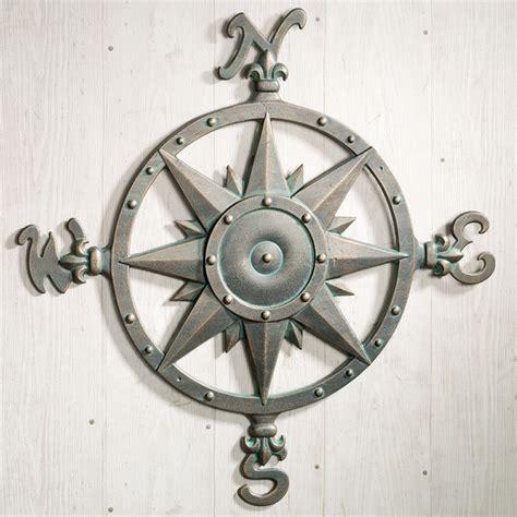 indoor outdoor nautical compass metal wall - Nautical Metal Wall Decor