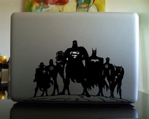Sticker Laptop Justice League Heroes superheroes unite macbook decal 7 the gadget flow