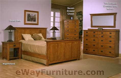 mission oak bedroom set solid oak mission panel bedroom set