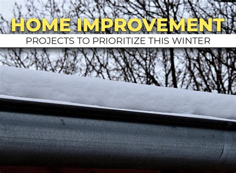 home improvement projects to prioritize this winter
