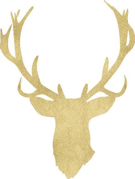 deer antler clip gold clipart deer antler pencil and in color gold