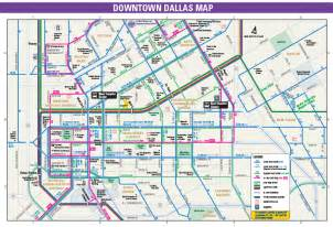 map of downtown dallas dart org college football chionship weekend information