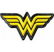 Wonder Woman  Logo Yellow And Chrome Premium Fan Emblem