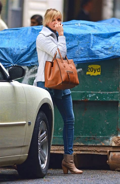 Cameron Diaz Steps Out With Purse by Cameron Diaz Carrying C 233 Line Bag In Nyc Pictures