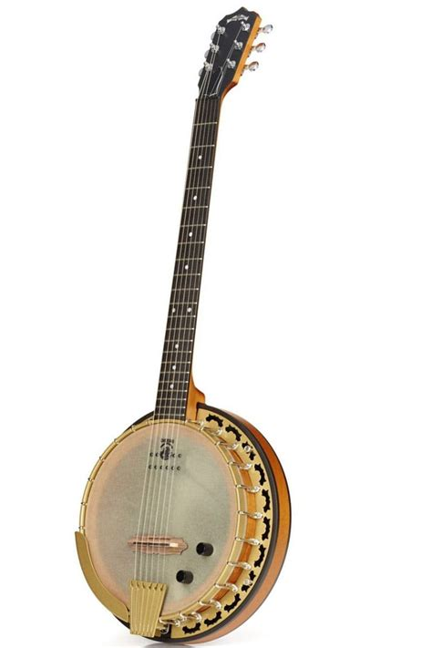 Deering Phoenix Six String Guitar Banjo With Kavanjo Head