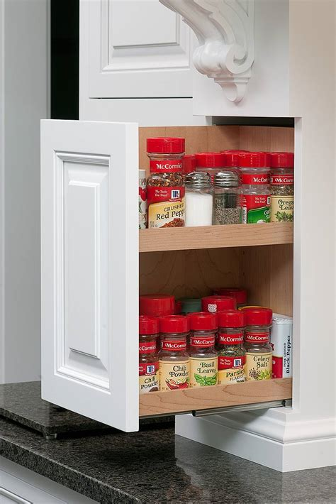 kitchen cabinets spice rack pull out furniture comely kitchen decoration design with cabinet