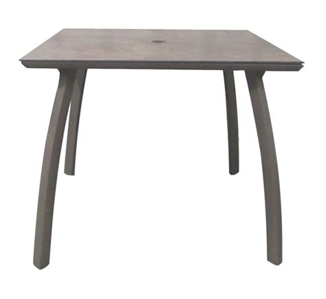 Sunset Tables by 36 Quot Square Sunset Table Base Volcanic Black