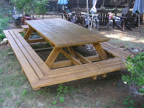 Large Picnic Table by Custom Made Picnic Tables Large Thru Bolt Picnic Tables