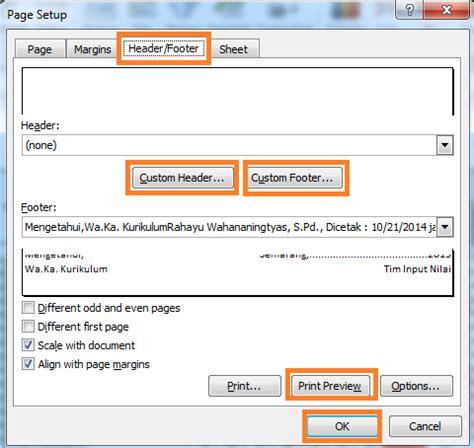 membuat html footer cara mudah membuat header footer di ms excel