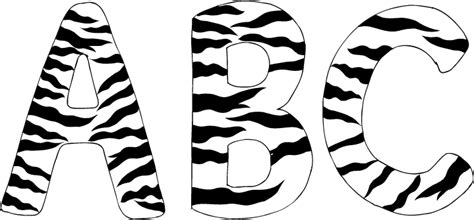 printable zebra print alphabet letters common worksheets 187 printable zebra print letters