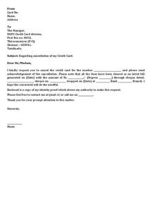 Letter Of Request To Cancel Credit Card Business Letter Writing Thank You Business Letter Asking