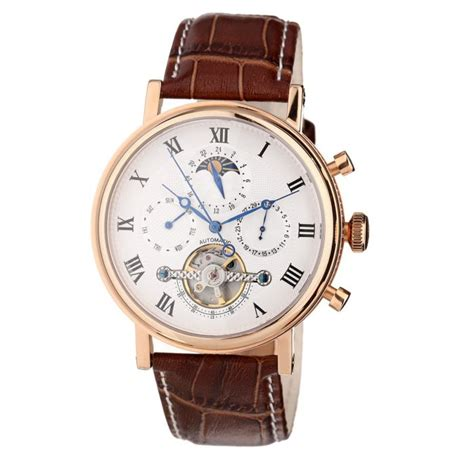 louis cottier montre automatique tradition bracelet cuir homme marron blanc achat vente