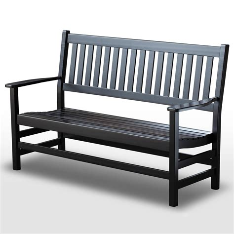 plantation bench plantation 61 slatted wood bench black paint dcg stores